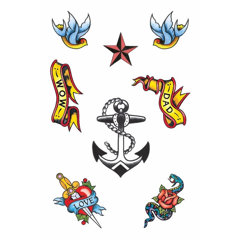 Plak Tattoos Zeeman 8x Verkleedkleding Shop Voor Al Uw